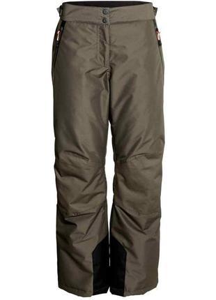 Зимние лыжные штаны цвет хаки h&m размер 38-40