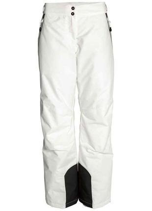 Зимние лыжные штаны белого цвета h&m размер 38-40