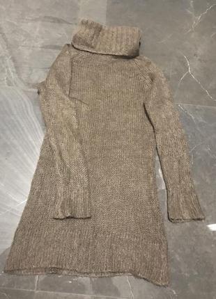 Итальянский тёплый свитер с высокой горловиной/zara
