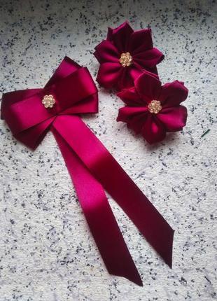 Школьный комплект бантики школа форма галстук