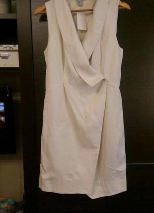 Платье из льна с вискозой h&m