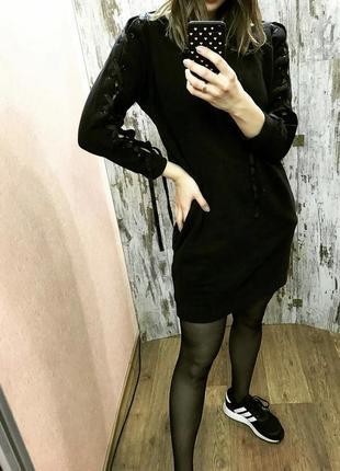 Платье-худи на флисе