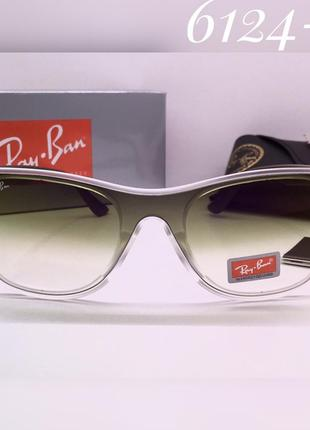 Ray ban очки женские солнцезащитные с зелёными линзами градиент и матовой оправой