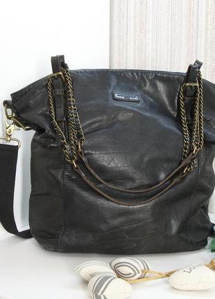 Кожаная сумка, шоппер, liebeskind, берлин. натуральная кожа.