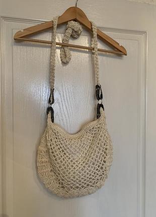 Плетеная сумка на замочке