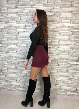 Замшевая юбка-шорты .4 фото