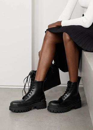 Balenciaga strike boots легендарные ботинки черные кожаные оригинал