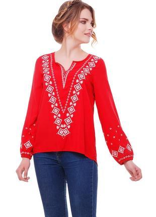 Блуза жіноча желана (штапель червоний)