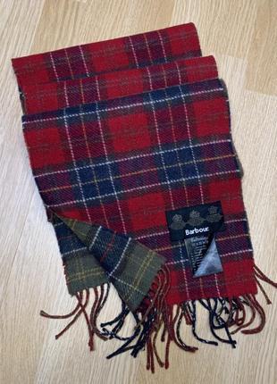 Barbour reversible wool scarf двухсторонний шарф