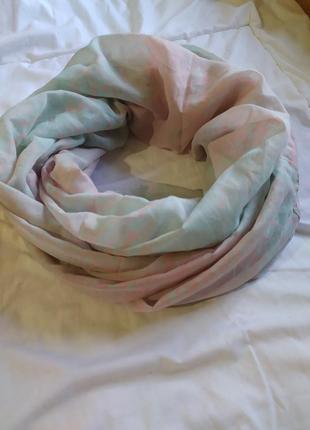 Объёмный нежный шарф хомут большой 1×1 метр