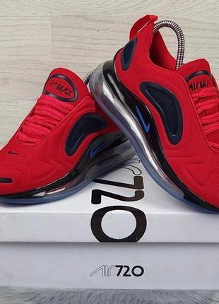 Женские кроссовки nike air max 720 {красные с чёрным}#nike