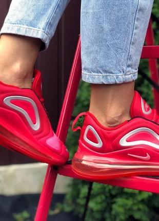 Женские кроссовки nike air max 720 (красные с белым)#nike