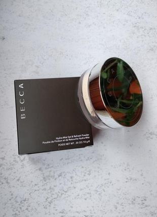 Пудра фіксуюча becca hydra-mist set & refresh powder