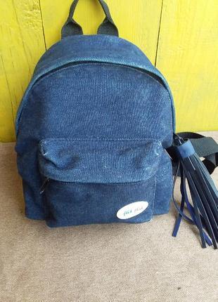 Маленький стильный джинсовый рюкзак бренд swatch flik flak