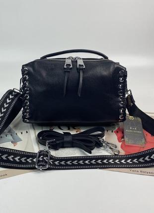 Женская кожаная сумка бочонок на и через на плечо polina & eiterou жіноча шкіряна сумочка