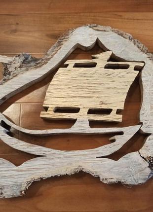 Крафтовый декор со среза ореха