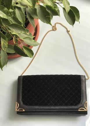 Стильная сумочка клатч на цепочке