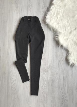Брюки штаны skinny скинни в гусиную лапку