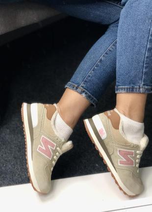 💗 кроссовки утеплённые на меху кожа❄️