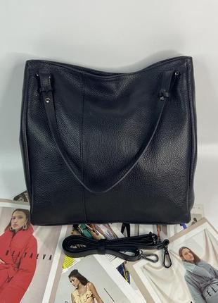 Женская кожаная итальянская сумка на плечо vera pelle жіноча шкіряна італійська
