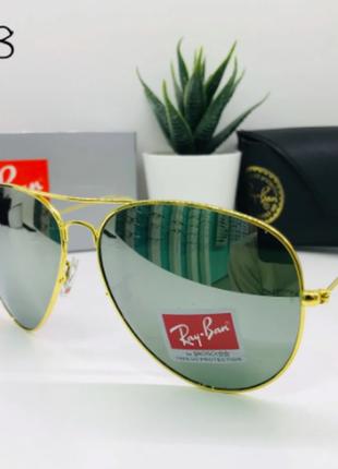 Солнцезащитные очки rayban линза минеральное стекло (rb3028)