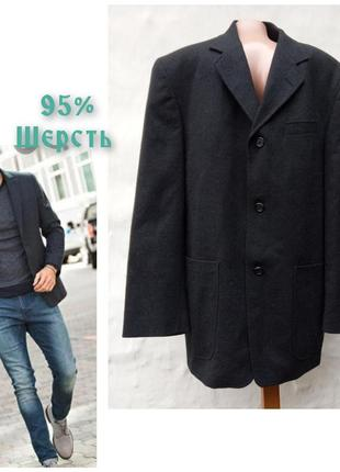 Классный графитовый мужской шерстяной пиджак ciro citterio