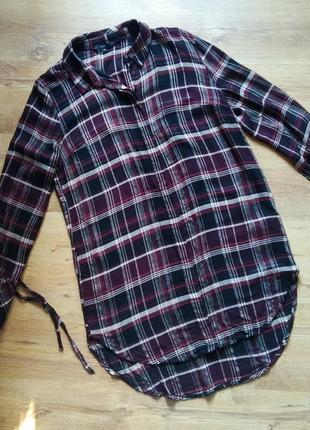 Платье рубашка, рубашка длинная, платье рубашка а клетку, удлиненная рубашка