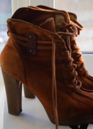 Замшевые ботинки nine west, 38 размер