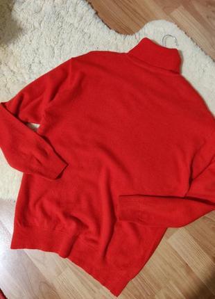 Шерстяной гольф свитер джемпер кораллового оттенка