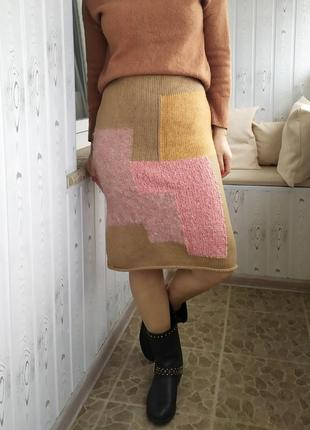 Cos юбка шерстяная