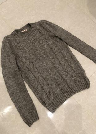Теплая кофта свитер, шерсть