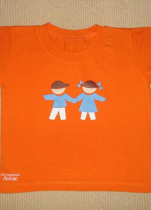 Яркая футболка на ребёнка 1,5-2 лет