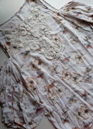 Вискозная блузка с открытыми плечами f&f