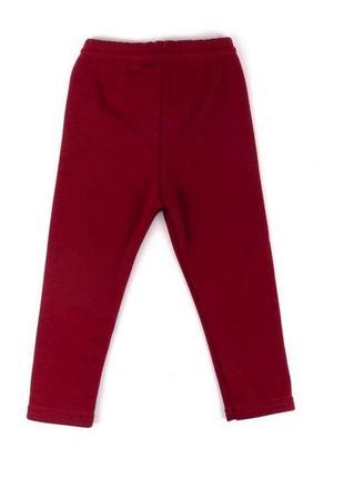 Лосины эко-мех бордового цвета