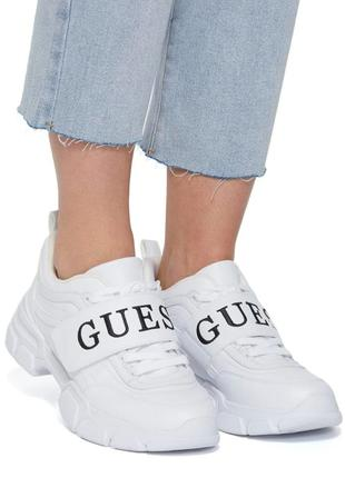 Белые кроссовки guess kathie chunky logo sneakers 36, 37, 38, 39-40 размера