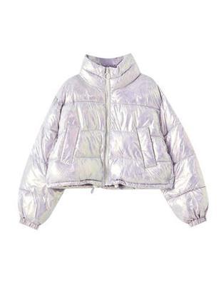 Pull&bear стеганая куртка2 фото