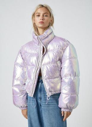 Pull&bear стеганая куртка1 фото