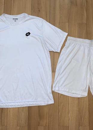 Комплект костюм спортивний lotto шорти футболка. розмір l-m