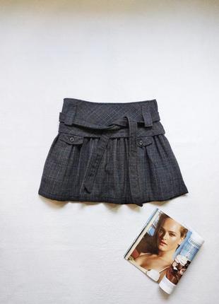 Теплая шерстяная юбка mango