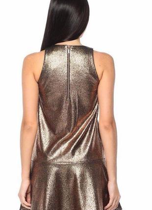 Клубное золотое платье для вечеринок,платье с золотым напылением(р xs),золото