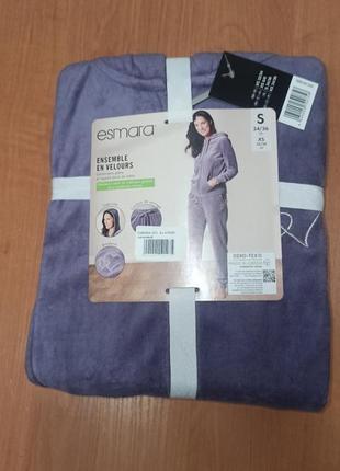 Премиум качество хлопковый велюровый костюм в упаковке на подарок германия s (42-44)