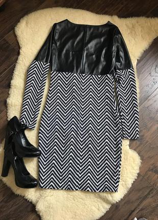 Плаття з екошкірою