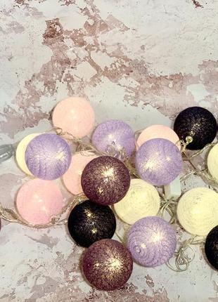 Гирлянды ночник шары