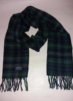 Красивый тёплый шерстяной шарф