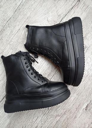 Зимние ботинки на высокой подошве 2021