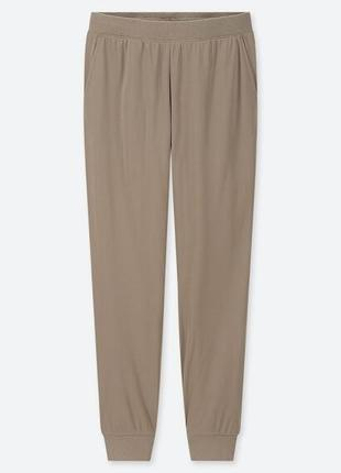 Uniqlo брюки зимние штаны теплые на холод на флисе, на меху