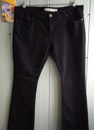 Черные стрейчевые джинсы большого размера 18uk