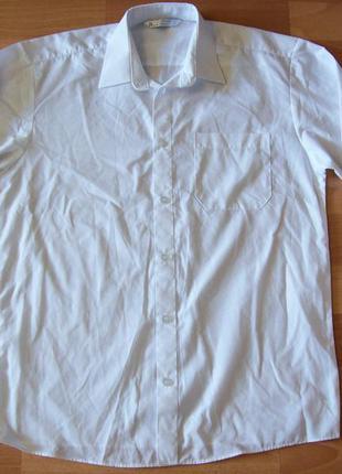 Фирменная белая рубашка на мальчика-подростка, англия