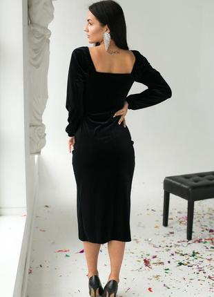 Изысканное платье с декоративным декольте и распоркой3 фото