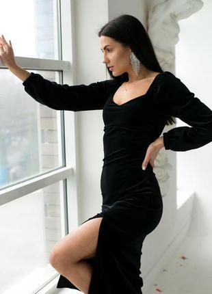 Изысканное платье с декоративным декольте и распоркой2 фото